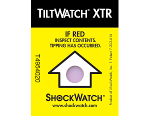 Indicateurs de renversement non réutilisatbles - tiltwatch XTR